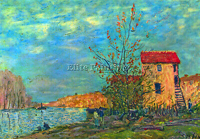 The Loing In Moret By Sisley Artist Painting Reproduction Handmade Oil Canvas