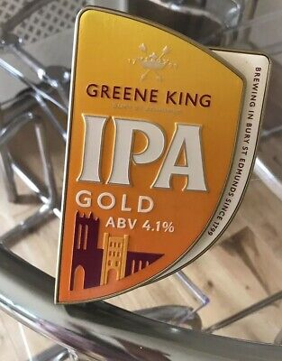 Man Cave New Greene King IPA India Pale Ale Beer Pump Clip Home Bar Ready2Fit