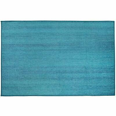 Ruggable Washable Ocean Blue 3' x 5' Stain Resistant Accent Rug