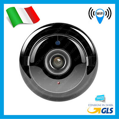 Telecamera Ip 1080P Micro Camera Spia Cam Nascosta Spy Motion Detection Hd Wifi