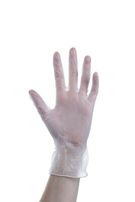 300 !! Powder / Latex Free Clear Vinyl Gloves Medium | Catering | Lab | Cleaning
