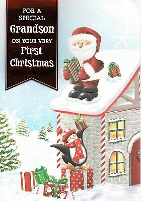 GRANDSON ~ Quality CHRISTMAS Card ~ GREAT DESIGNS To Choose From