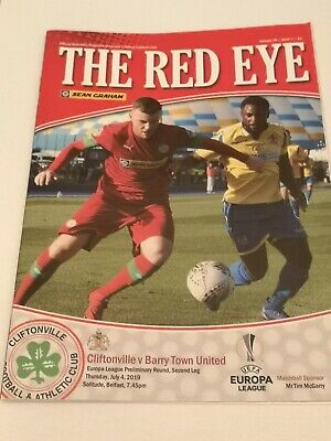 Cliftonville V Barry Town Europa League.thursday 4Th July. 2019.Mint
