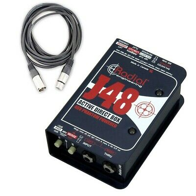 Radial Engineering J48 Single Channel Active Direct Box with Cable