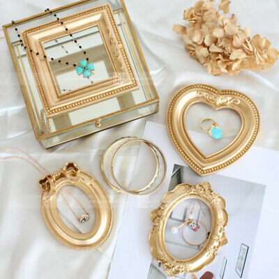 Vintage Jewelry Photograhy Props Victorian Antique Style Resin Mini Photo Frame