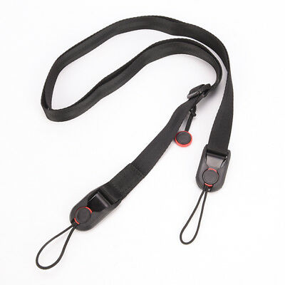 Quick Release Camera Cuff +Leash Shoulder Strap Sling ABS Buckle H Y FJ
