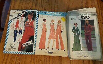 3 Vintage Sewing Patterns Simplicity Misc Womens Suits Sizes 18.5 to 24.5. UNCUT