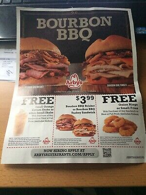 Arby's Coupons 9/25/2019 Shipping Included