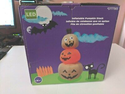 LED Halloween Inflatable lighted Pumpkin Stack - 6 ft tall! nib