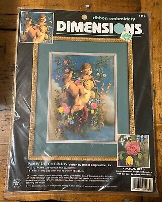Dimensions PLAYFUL CHERUBS Ribbon Embroidery Kit #1496 - Unopened