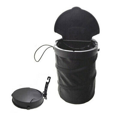 NE_ DV_ Portable Collapsible Car Back Seat Trash Can Auto Garbage Hook Dustbin