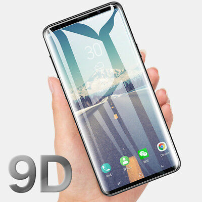 9D Curved Tempered Glass Screen Protector For Samsung Galaxy S8 S9 Plus Note 8 9