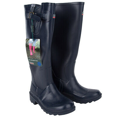 Town&Country Female Festival Wellies Wellington Boots Navy Blue Size 4