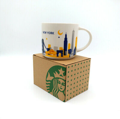 414ml Starbucks City Coffee Mug Cup You Are Here Collection YAH New York in Box