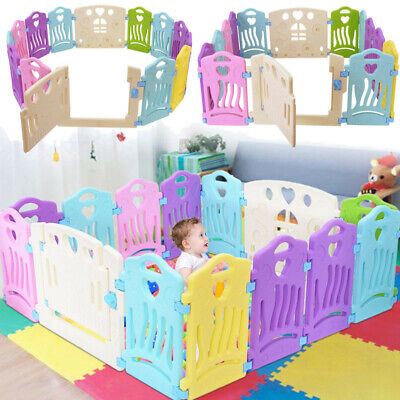 8/14 Panels Baby Playpen Kids Safety Fence Play Center PlayYard Kids Bbay pen