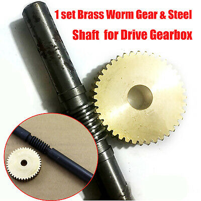 Modulus 20 to 60 Teeth Brass Worm Gear & Steel Shaft Set for Drive Gearbox Parts