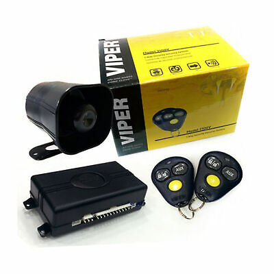 Viper 3 Channel 1-Way Vehicle Security Keyless Entry System Dual Shock Car Alarm