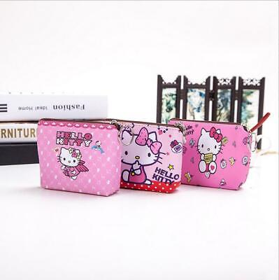 Cute Hello Kitty Melody Little Twin Stars Mickey Wallet ID Coin Purse Key Ring