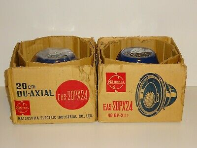 Lot of 2 Vintage National/Matsushita Electric Co. Du-Axial Speakers EAS-20PX24