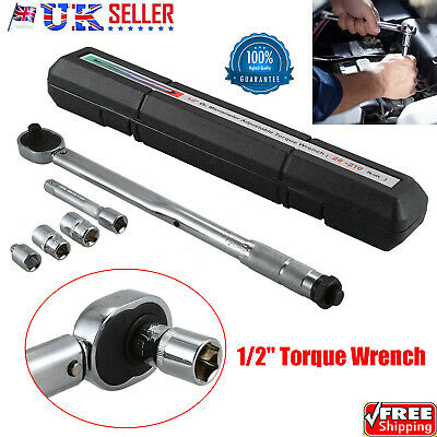 "Torque Wrench 28-210Nm 1/2"" 3/8"" Drive Ratchet Lifetime Guarantee UK STOCK"