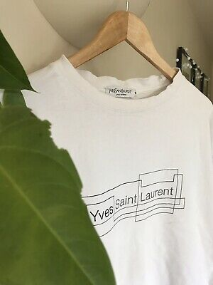 Mens YVES SAINT LAURENT Short Sleeve T-shirt LARGE