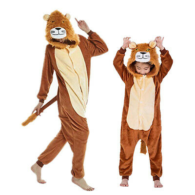 Unisex Animal Onesie88S Adult Kids Kigurumi Cosplay Costume Pyjamas Sleepwear UK