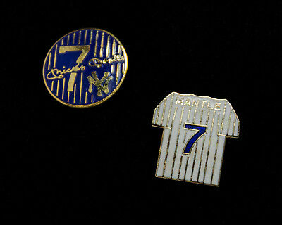 Mickey Mantle Vintage Limited Edition Pins - Set Of 2