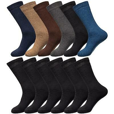 Mens Thermal Socks Brushed Winter Warm Thick Sock Size 6-11 UK 3, 6 & 12 Pairs