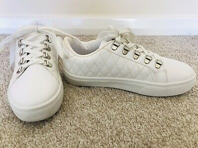 Girls White Trainers Size UK 3 From Primark