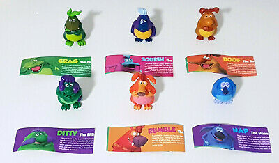 Yowie Men Complete Set of 6x Figurines Crag Nap Boof Squish Ditty Rumble Toys!