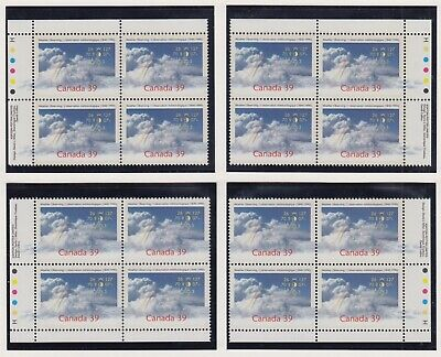 CANADA MATCHED SET PLATE BLOCKS 1287MNH 39c x 16 WEATHER OBSERVING