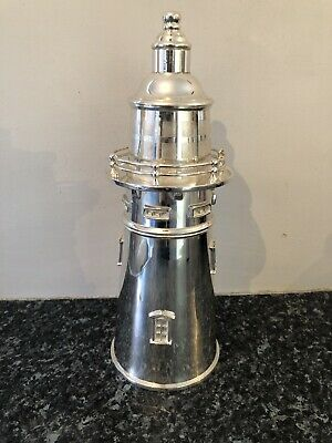 Silver plated lighthouse cocktail shaker Novelty Barware Gin Supreme Quality