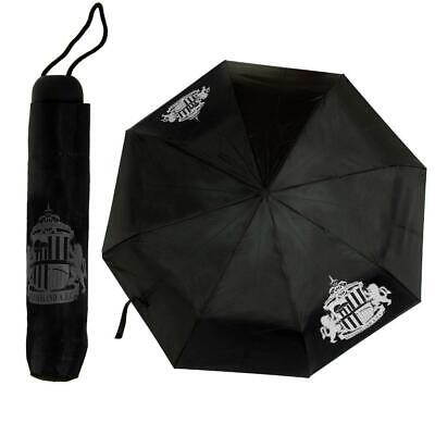 New Official Sunderland AFC Telescopic Compact Umbrella Black football