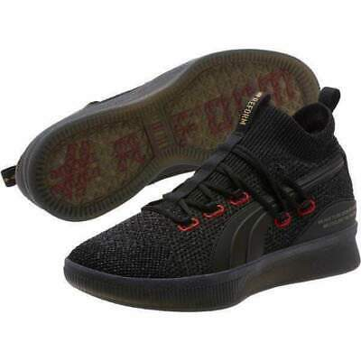 save off 349ae 930a9 PUMA CLYDE COURT Reform Black Red Meek Mill Men Basketball New hoops  192892-01