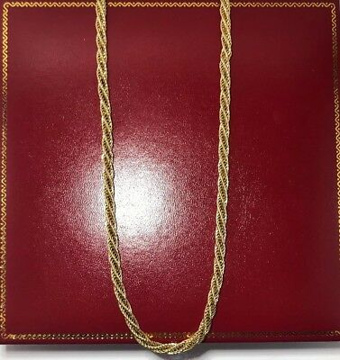 """RARE Vintage 14k Yellow Gold Filigree Rope Wide 5M Estate 585 Chain Necklace 20"""""""