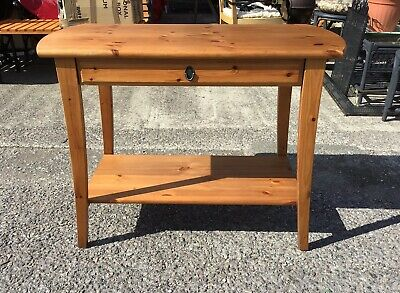 Pretty Solid Pine Modern Console Hall / Side Table / Desk