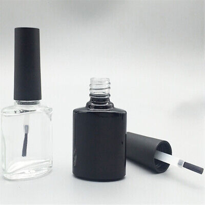 NE_ 10ml Portable Nail Polish Varnish Empty Glass Bottle Makeup Container with