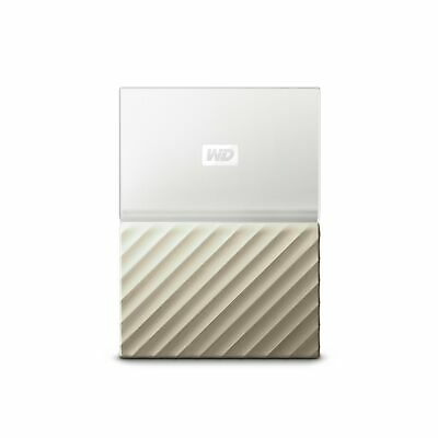 WD My Passport Ultra 3 TB Portable Hard Drive - White/Gold .