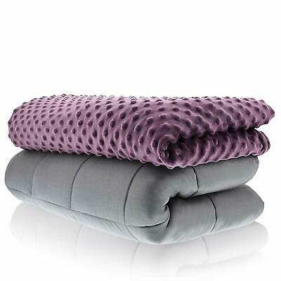 Sonno Zona Weighted Blanket Adult Size - Blanket with Cover Included - Plum 60x8
