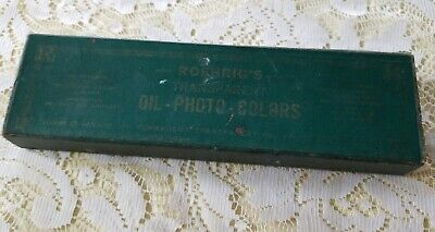Antique ROEHRIG'S Oil Color Paint Set In Box