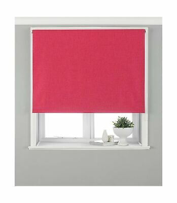 Riva Paoletti Eclipse Blackout Roller Blind - Pink - Ready Made (Fittings I... .