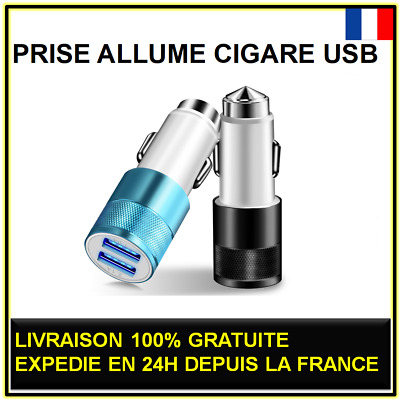 Prise Allume Cigare Double Usb 5V 3,1A Voiture Chargeur Telephone Universel