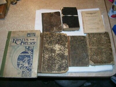 (R) Collection of Antique Religious Books 1800's Some Rare Early Ones