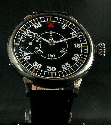 OMEGA Antique 1935 WWII ERA BIG PILOT Wristwatch
