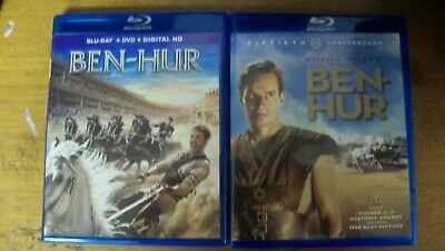 New No Seal Ben Hur Double Feature 4 Disc Blu Ray Sets 1959 2018 1St Cls S&H