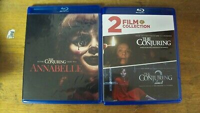 New No Seal Conjuring Conjuring 2 Annabelle 3 Blu Ray Set Ist Cls S&H
