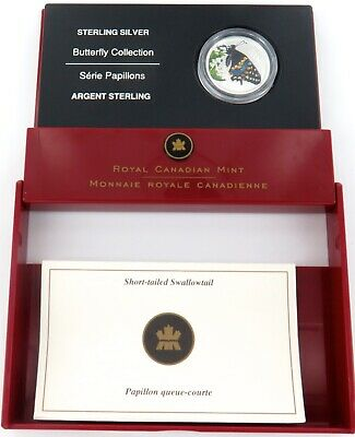 2006 Royal Canadian Mint Butterfly Collection Sterling Silver 50C Proof.