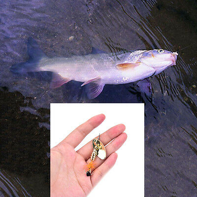 Fishing Lure Spoon Bait ideal for Bass Trout Perch pike rotating Fishing _$T