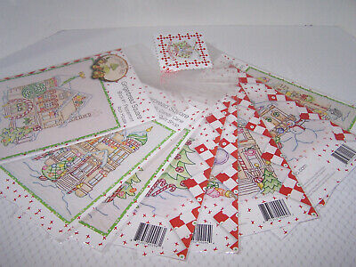 Crabapple Hill  Complete Gingerbread Square  Embroidery Quilt Block Patterns (9)