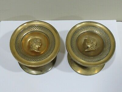 Rare pair of Antique Gilt Bronze Tiebacks